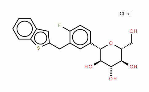 (1S)-1,5-脱水-1-C-[3-[(1-苯并噻吩-2-基)甲基]-4-氟苯基]-D-葡糖醇