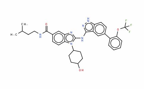 1-(4-羟基环己基)-2-[[5-(2-三氟甲氧基苯基)-1H-吲唑-3-基]氨基]-1H-苯并咪唑-5-羧酸 (3-甲基丁基)酰胺