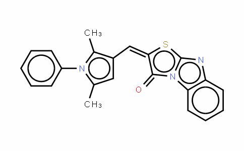 (E)-2-[(2,5-二甲基-1-苯基-1H-吡咯-3-基)亚甲基]噻唑并[3,2-a〕苯并咪唑-3(2H)-酮