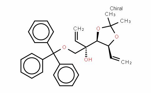 L-arabino-Hex-5-enitol, 5,6-dideoxy-2-C-ethenyl-3,4-O-(1-methylethylidene)-1-O-(triphenylmethyl)-