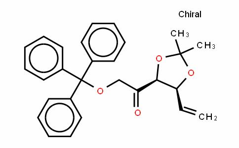 L-erythro-Hex-5-en-2-ulose, 5,6-dideoxy-3,4-O-(1-methylethylidene)-1-O-(triphenylmethyl)- (9CI)