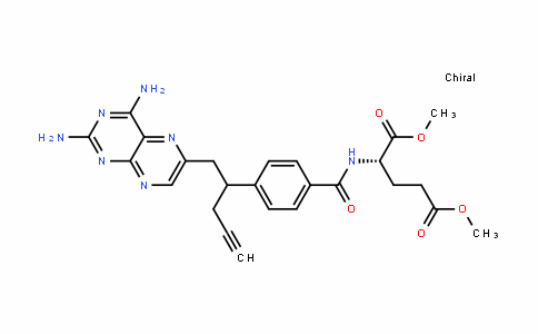 L-Glutamic acid, N-[4-[1-[(2,4-diamino-6-pteridinyl)methyl]-3-butyn-1-yl]benzoyl]-, 1,5-dimethyl ester