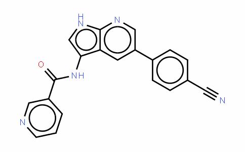 N-[5-(4-氰基苯基)-1H-吡咯并[2,3-b]吡啶-3-基]-3-吡啶甲酰胺