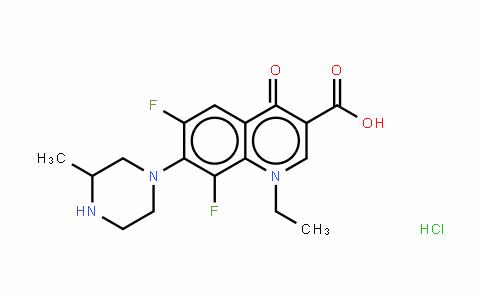 Lomefloxacin (hydrochloride)