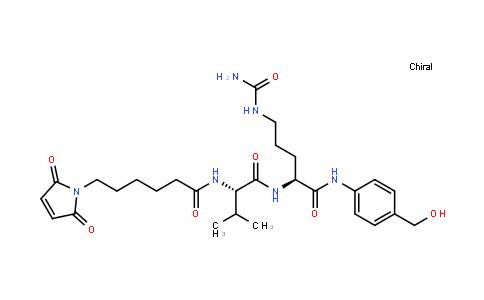 L-Ornithinamide, N-[6-(2,5-dihydro-2,5-dioxo-1H-pyrrol-1-yl)-1-oxohexyl]-L-valyl-N5-(aminocarbonyl)-N-[4-(hydroxymethyl)phenyl]-
