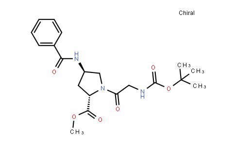 L-Proline, N-[(1,1-dimethylethoxy)carbonyl]glycyl-4-(benzoylamino)-, methyl ester, (4R)-