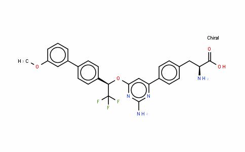 4-[2-氨基-6-[(1R)-2,2,2-三氟-1-(3'-甲氧基联苯-4-基)乙氧基]嘧啶-4-基]-L-苯丙氨酸