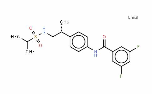 N-[4-[(1R)-1-甲基-2-[[异丙基磺酰基]氨基]乙基]苯基]-3,5-二氟苯基甲酰胺