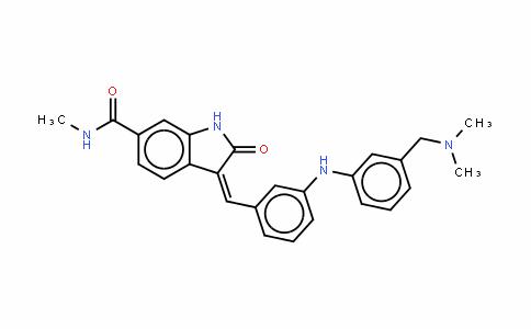 (3Z)-3-[[[3-[(二甲基氨基)甲基]苯基]氨基]苯基亚甲基]-2,3-二氢-N-甲基-2-氧代-1H-吲哚-6-甲酰胺