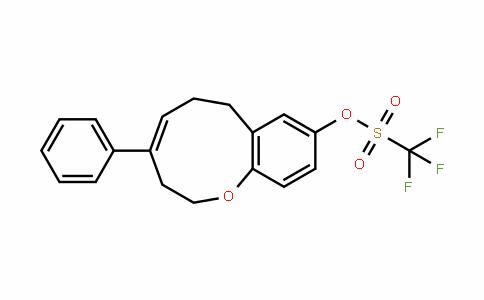 Methanesulfonic acid, 1,1,1-trifluoro-, (4E)-2,3,6,7-tetrahydro-4-phenyl-1-benzoxonin-9-yl ester