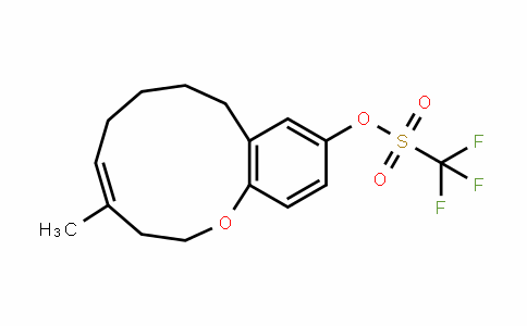 Methanesulfonic acid, 1,1,1-trifluoro-, (4Z)-2,3,6,7,8,9-hexahydro-4-Methyl-1-benzoxacycloundecin-11-yl ester