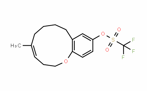 Methanesulfonic acid, 1,1,1-trifluoro-, (4Z)-2,3,6,7,8,9-hexahydro-5-Methyl-1-benzoxacycloundecin-11-yl ester