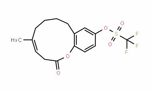 Methanesulfonic acid, 1,1,1-trifluoro-, (4Z)-2,3,6,7,8,9-hexahydro-5-Methyl-2-oxo-1-benzoxacycloundecin-11-yl ester