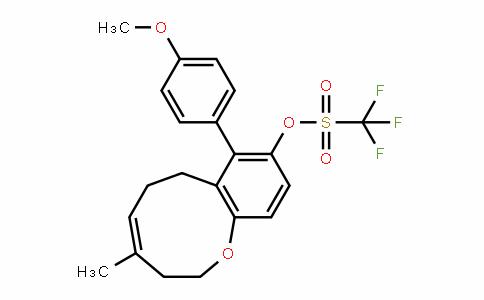 Methanesulfonic acid, 1,1,1-trifluoro-, (4Z)-2,3,6,7-tetrahydro-8-(4-Methoxyphenyl)-4-Methyl-1-benzoxonin-9-yl ester