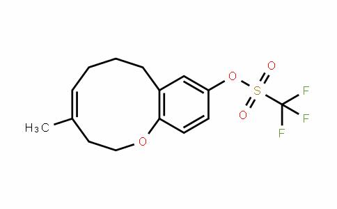 Methanesulfonic acid, 1,1,1-trifluoro-, (4Z)-3,6,7,8-tetrahydro-4-Methyl-2H-1-benzoxecin-10-yl ester