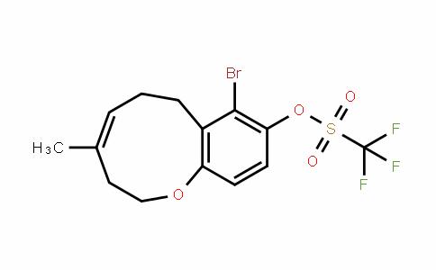 Methanesulfonic acid, 1,1,1-trifluoro-, (4Z)-8-broMo-2,3,6,7-tetrahydro-4-Methyl-1-benzoxonin-9-yl ester