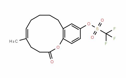 Methanesulfonic acid, 1,1,1-trifluoro-, (5E)-3,4,7,8,9,10-hexahydro-5-Methyl-2-oxo-2H-1-benzoxacyclododecin-12-yl ester
