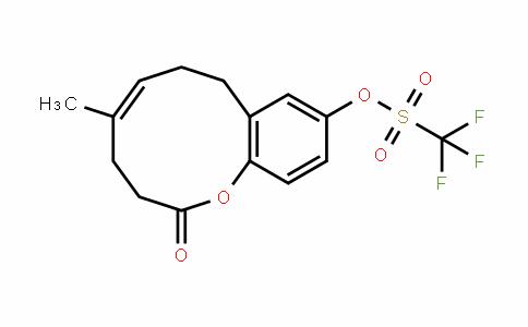 Methanesulfonic acid, 1,1,1-trifluoro-, (5E)-3,4,7,8-tetrahydro-5-Methyl-2-oxo-2H-1-benzoxecin-10-yl ester