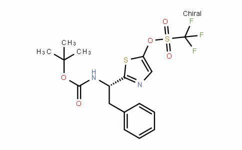 Methanesulfonic acid, 1,1,1-trifluoro-, 2-[(1S)-1-[[(1,1-diMethylethoxy)carbonyl]aMino]-2-phenylethyl]-5-thiazolyl ester