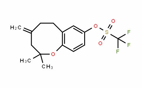 Methanesulfonic acid, 1,1,1-trifluoro-, 3,4,5,6-tetrahydro-2,2-diMethyl-4-Methylene-2H-1-benzoxocin-8-yl ester