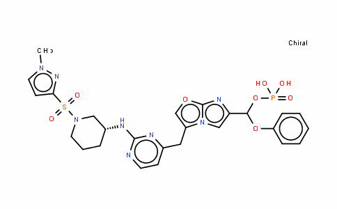 Methanol, 1-[3-[5-[2-[[(3R)-1-[(1-Methyl-1H-pyrazol-3-yl)sulfonyl]-3-piperidinyl]aMino]-4-pyriMidinyl]iMidazo[2,1-b]oxazol-6-yl]phenoxy]-, 1-(dihydrogen phosphate)