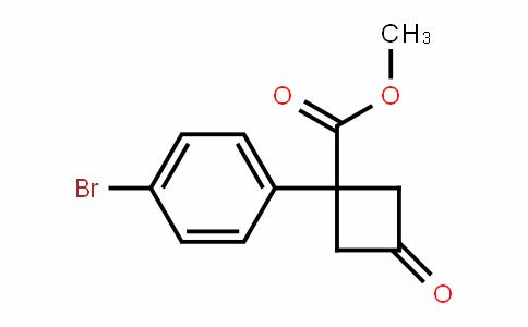 methyl 1-(4-bromophenyl)-3-oxocyclobutanecarboxylate