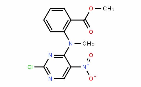 methyl 2-((2-chloro-5-nitropyrimidin-4-yl)(methyl)amino)benzoate