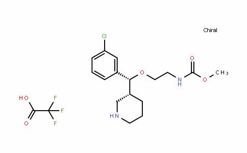 methyl 2-((R)-(3-chlorophenyl)((R)-piperidin-3-yl)methoxy)ethylcarbamate (2,2,2-trifluoroacetate)
