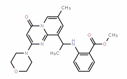 methyl 2-(1-(7-methyl-2-morpholino-4-oxo-4H-pyrido[1,2-a]pyrimidin-9-yl)ethylamino)benzoate