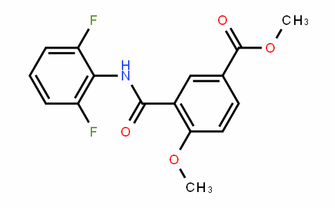 methyl 3-(2,6-difluorophenylcarbamoyl)-4-methoxybenzoate