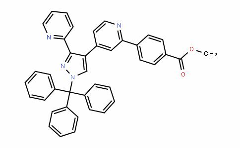 Methyl 4-(4-(3-(pyridin-2-yl)-1-trityl-1H-pyrazol-4-yl)pyridin-2-yl)benzoate