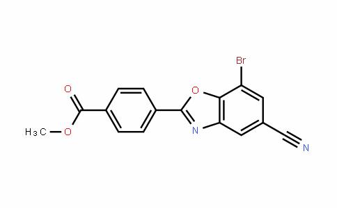 Methyl 4-(7-broMo-5-cyanobenzo[d]oxazol-2-yl)benzoate