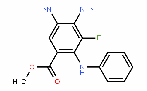 methyl 4,5-diamino-3-fluoro-2-(phenylamino)benzoate