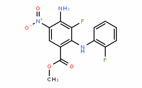methyl 4-amino-3-fluoro-2-((2-fluorophenyl)amino)-5-nitrobenzoate