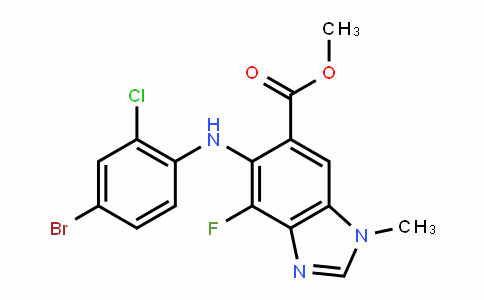 methyl 5-((4-bromo-2-chlorophenyl)amino)-4-fluoro-1-methyl-1H-benzo[d]imidazole-6-carboxylate