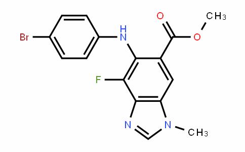methyl 5-(4-bromophenylamino)-4-fluoro-1-methyl-1H-benzo[d]imidazole-6-carboxylate