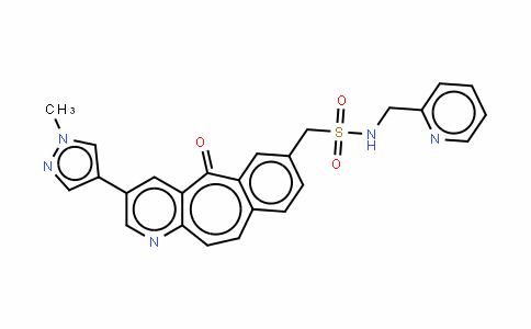 3-(1-甲基-1H-吡唑-4-基)-5-氧代-N-(2-吡啶甲基)-5H-苯并[4,5]环己烯并[1,2-B]吡啶-7-甲磺酰胺