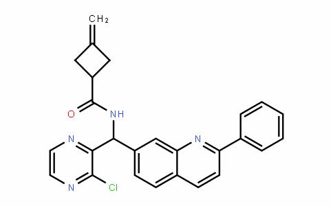 N-((3-chloropyrazin-2-yl)(2-phenylquinolin-7-yl)methyl)-3-methylenecyclobutanecarboxamide