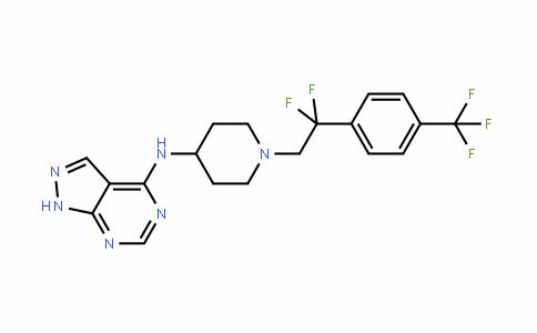 N-(1-(2,2-difluoro-2-(4-(trifluoroMethyl)phenyl)ethyl)piperidin-4-yl)-1H-pyrazolo[3,4-d]pyriMidin-4-aMine