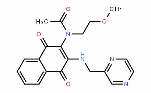 N-(1,4-dioxo-3-(pyrazin-2-ylmethylamino)-1,4-dihydronaphthalen-2-yl)-N-(2-methoxyethyl)acetamide