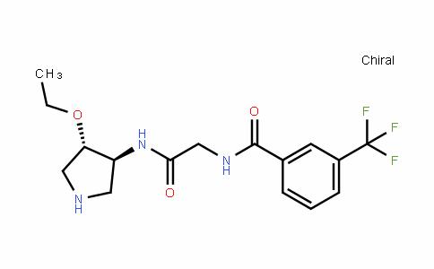 N-(2-((3S,4S)-4-ethoxypyrrolidin-3-ylamino)-2-oxoethyl)-3-(trifluoromethyl)benzamide