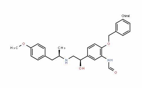 N-(2-(benzyloxy)-5-((R)-1-hydroxy-2-(((R)-1-(4-Methoxyphenyl)propan-2-yl)aMino)ethyl)phenyl)forMaMide