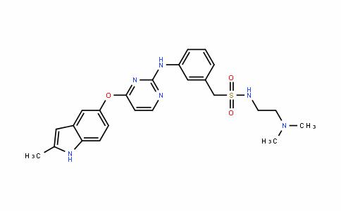 N-(2-(diMethylaMino)ethyl)-1-(3-((4-((2-Methyl-1H-indol-5-yl)oxy)pyriMidin-2-yl)aMino)phenyl)MethanesulfonaMide