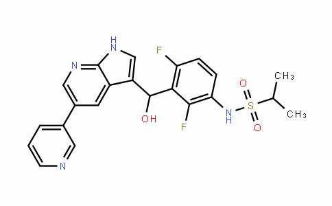 N-(2,4-difluoro-3-(hydroxy(5-(pyridin-3-yl)-1H-pyrrolo[2,3-b]pyridin-3-yl)methyl)phenyl)propane-2-sulfonamide