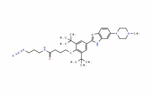 N-(3-Azidopropyl)-4-(2,6-di-Tert-butyl-4-(6-(4-Methylpiperazin-1-yl)-1H-benzo[d]iMidazol-2-yl)phenoxy)butanaMide