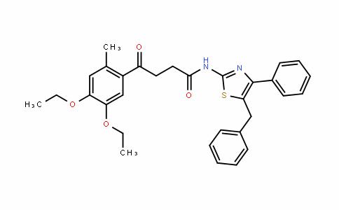 N-(5-benzyl-4-phenylthiazol-2-yl)-4-(4,5-diethoxy-2-Methylphenyl)-4-oxobutanaMide