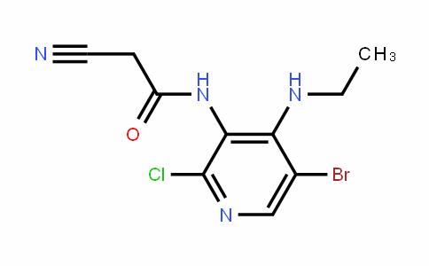 N-(5-bromo-2-chloro-4-(ethylamino)pyridin-3-yl)-2-cyanoacetamide