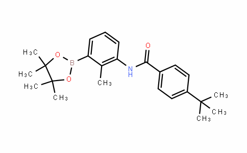 N-[2-Methyl-3-(4,4,5,5-tetramethyl[1,3,2]dioxaborolan-2-yl)phenyl]-4-(Tert-butyl)benzamide