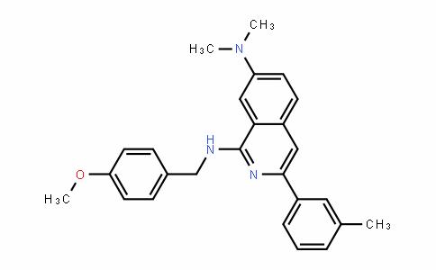 N1-(4-methoxybenzyl)-N7,N7-dimethyl-3-m-tolylisoquinoline-1,7-diamine