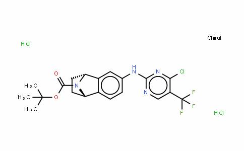 Naphthalen-1,4-imin-6-amine, N-[4-chloro-5-(trifluoromethyl)-2-pyrimidinyl]-1,2,3,4-tetrahydro-, hydrochloride (1:2), (1S,4R)-